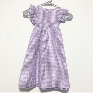 NWT Purple Gingham Monogrammed Dress Size 7
